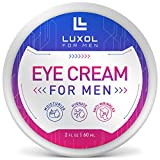 LUXOL Eye Cream for Men, Natural and Organic Anti Aging Eye Cream To Reduce Puffiness, Wrinkles, Dark Circles, Crows Feet and Under Eye Bags 2oz