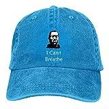 Lsjuee I Can T Breathe George Gorras de béisbol Ajustables Sombreros de Mezclilla Sombrero de Vaquer...