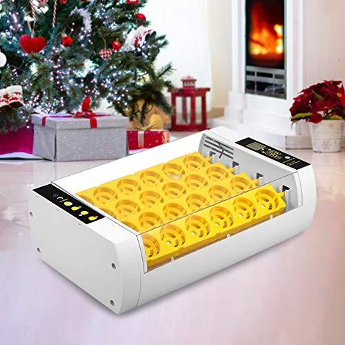 S SMAUTOP Eierinkubator Automatik, Eierbrut-Inkubator-Maschine Hocheffiziente LED-Beleuchtungstemperaturregelungsfunktion Und automatische Eierdrehfunktion, Für Chicken Duck Goose Wachteleier