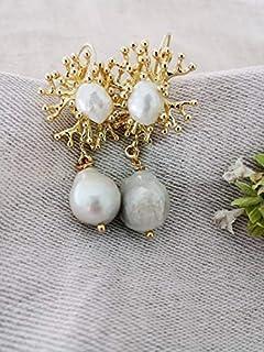 Orecchini Sposa con Perle Barocche