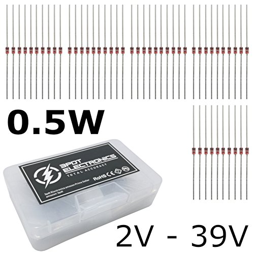 300 pcs 0.5w Zener Diode Assortment 30 Values