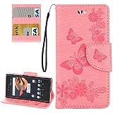 HUANGCAIXIA Accessoires de téléphone Portable pour Sony Xperia X Compact Papillons Gaufrage...