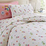 Wildkin Kids 100% Cotton Twin Duvet Cover for Boys and Girls, Features Button Closure and Four Interior Corner Ties, Duvet Covers Measures 88 x 68 Inches, BPA-free, Olive Kids (Fairy Princess)