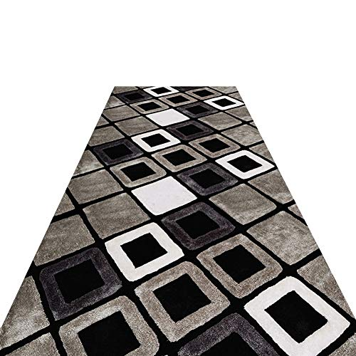 Geometric Trellis Area Rug - Long 1/2/3/4/5/6 m, Europeanstyle With Non-Slip Backing Carpet Runner, for Hallway Entrance Stairs (Size : 0.6x4 m/2x13.1 ft)