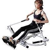 Küchenks Resistencia hidráulica y Brazo de Movimiento Libre de la máquina de Remo para Deportes completos Sunny Health & Fitness con Capacidad de Carga de 330 LB y Pantalla LCD