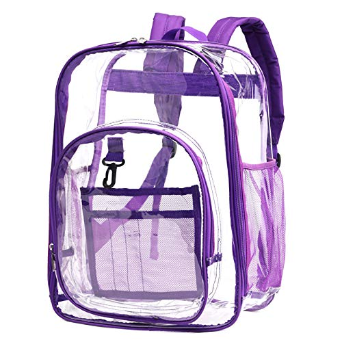Clear Backpack, Packism Heavy Duty Clear Backpack Large Transparent Backpack for School, Security, Stadiums, Work