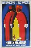 Générique Hotel Marhaba Marruecos - Póster de tamaño 50 x 70 cm, Papel 300 g, Todos los formatos posibles.