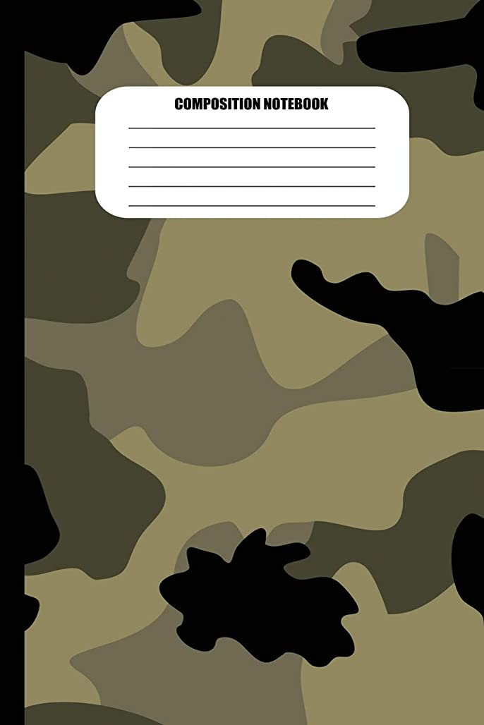 投げる罹患率層Composition Notebook: Camouflage (Military Colors) (100 Pages, College Ruled) (Camo Patterns)