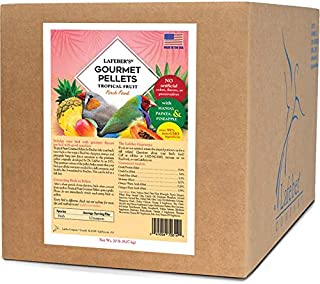 LAFEBER'S Premium Tropical Fruit Pellets Pet Bird Food, Made with Non-GMO and Human-Grade Ingredients, for Finches, 20 lbs