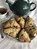 Baked By Juliet, Freshly Baked Gourmet Tea Scones, 12 Count (Blueberry Lemon)
