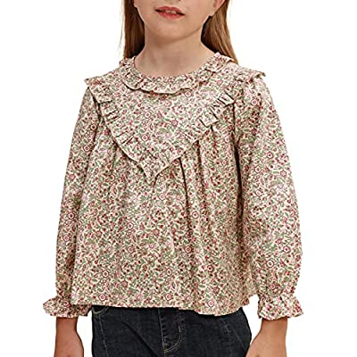Amazon - 5% Off on Girls Long Sleeve Floral Blouse Toddler Baby Girls Cotton Tops Shirt