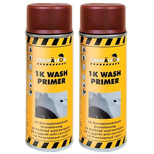 Chamäleon KORROSIONSSCHUTZ Etch Primer WASHPRIMER 1K Spray 2 x 400ml Säureprimer GRUNDIERUNG