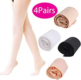 4Pairs Dance Tights Ballet Tights Footed Tights for Girls
