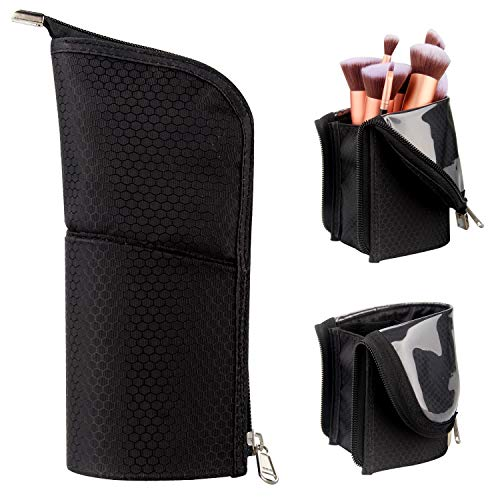 Makeup Brush Holder Organizer Bag Professional Artist Brushes Travel Bag Stand-up Makeup Cup Waterproof
