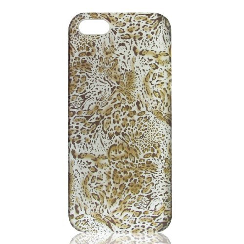 DealMux Brown Leopard gedrukt Hard Back Protector Case Bumper Cover voor de iPhone 5 5 G 5 Gen