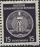 Prophila Collection DDR DA36IIa, offener Knopf und geschlossene Schenkel 1957 Dienstmarke (Briefmarken für Sammler)