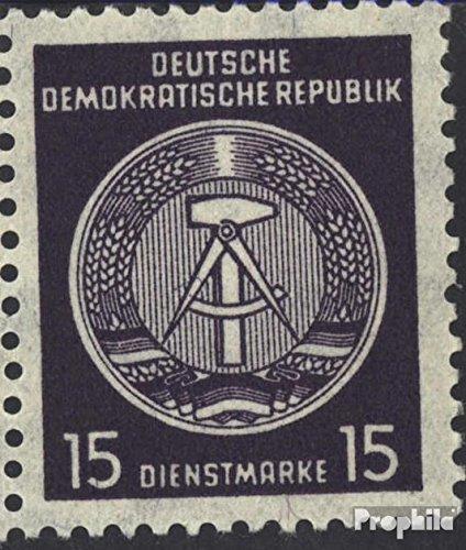Prophila Collection DDR DA36IIa geprüft, geschlossene Schenkel 1957 Dienstmarke (Briefmarken für Sammler)