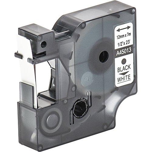 1 Nastro Tape Cartridge compatibile con Dymo D1 45013 in bianco e nero 12 millimetri x 7m per LabelManager LabelPoint LabelWriter per DYMO LabelPOINT & LabelManager LM100 / LM120P / LM150 / LM160 / LMPC2 / LM200 / LM210D / LM220P / LM260 / LM280 / LM300 / LM350 / LM400 / LM260P / LM350D / LM360D / LM420P / LM450 / LP350 / LP100 / LP150 / LP200 / LP250 / LP300 / PC / PC2 / PnP / PnP WiFi / LW400 / LW450 Duo