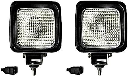 MelTruck® 2 x H3 Faro de trabajo halógeno adicional 12 V 24 V con bombillas de 12 V