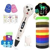 Dikale 3D Stifte für Kinder mit PLA Filament 12 Farben 【Ursprünglicher Entwurf】 PLA Farben 120 Fuß und 250 Schablone eBook für für Anfänger, Erwachsene Kunsthandwerk Modell DIY