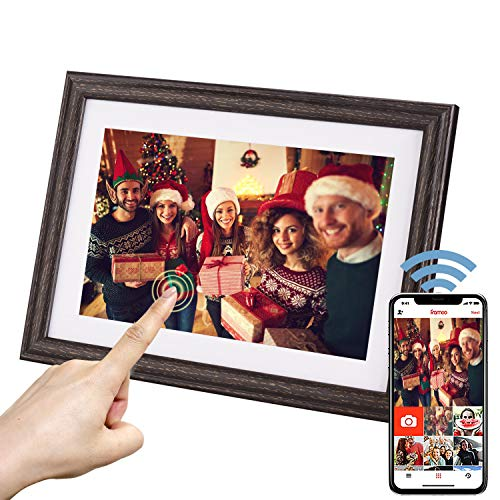 10inch WiFi Digital Photo Frame with HD IPS Display Touch Screen, Share Photos and Small Videos from Your Phone to The Photo Frame Anytime, Anywhere- Good idea Albums Bookshelf Dining Features Kitchen