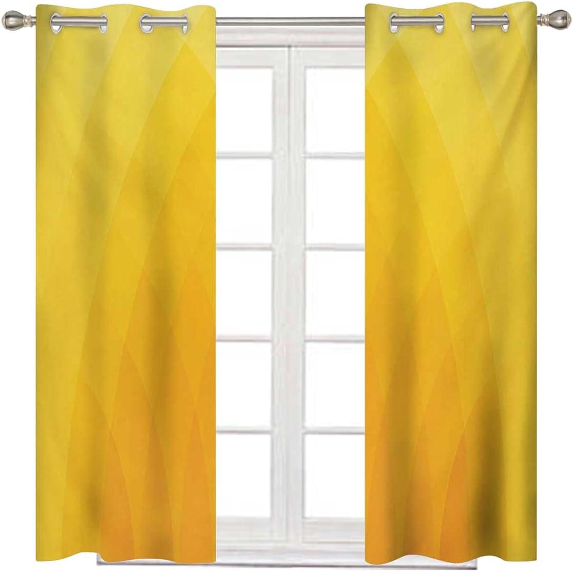 Yellow Window Treatments 72 Inches Excellent Cheap Orange Blackout C Long