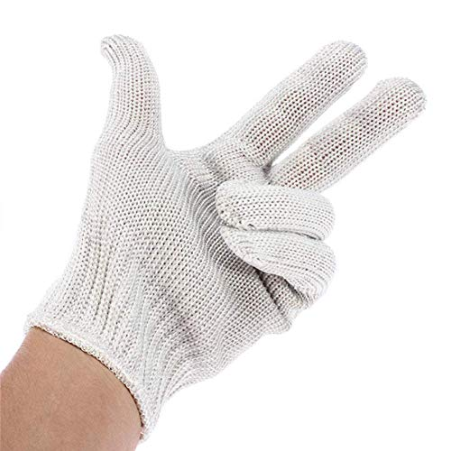 Pack of 24 Knit Glove Liners Men's Size. Natural Color Industrial String Knit Gloves. Standard Weight Gloves. Knitted Cotton Polyester Gloves for General Use. Comfortable Fit. Wholesale.