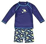 Landora®: Baby- / Kleinkinder-Badebekleidung langärmliges 2er Set Marineblau; in Größe 110/116