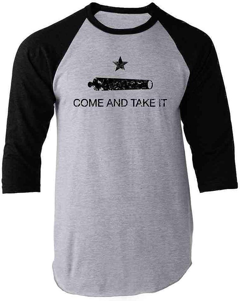 Pop Threads Texas Lone Star State Flag Austin Don't Mess with Raglan Baseball Tee Shirt