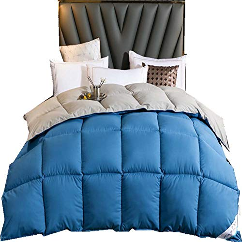 YXZN Threads for Beds Goose Down & Feather 13.5 Tog Duvet, Double, 100% Cotton Down Proof Fabric, Machine Washable with Premium Box-stitch Design