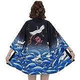 G-LIKE Japanischer Kimono Sommer Kleidung - Traditionelles Haori Federgewebe Kostüm Robe Überjacke Sonnenschutz Jacke Antiker Stil Nachthemd Bademantel Nachtwäsche für Damen Herren...