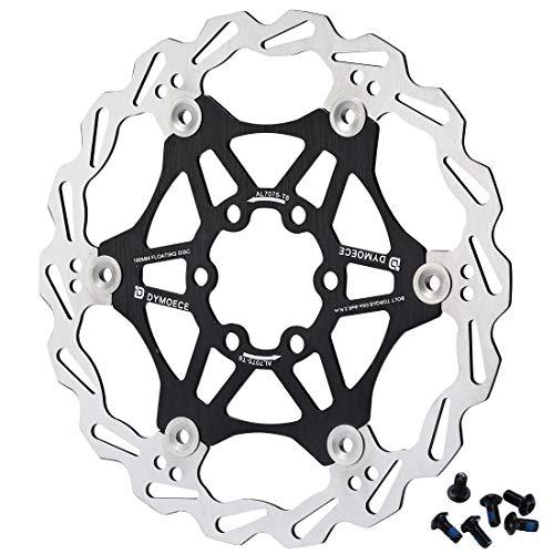 Dymoece Fahrrad Schwimmende Bremsscheibe 160mm/180mm mit 6 Schrauben für MTB Rennrad Schwarz/Rot/Violett