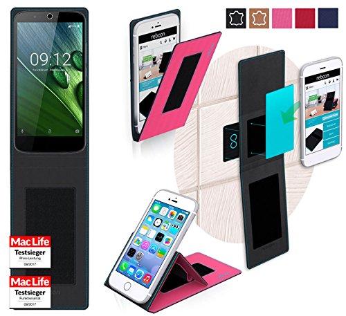reboon Hülle für Acer Liquid Zest Plus Tasche Cover Case Bumper | Pink | Testsieger