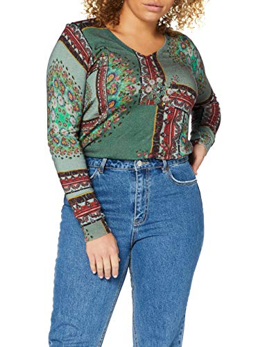 Desigual Jers_Dundee suéter, Brown, S para Mujer