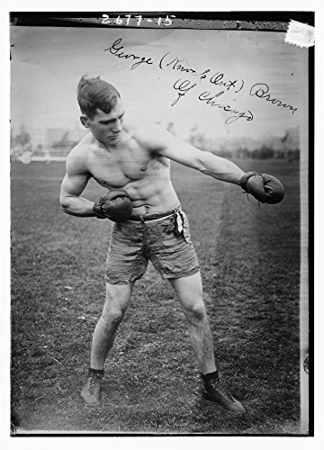 Historic Photographs, LLC Photo: George (Knockout) Brown of Chicago,George A. Contas,Middleweight Boxing Champ