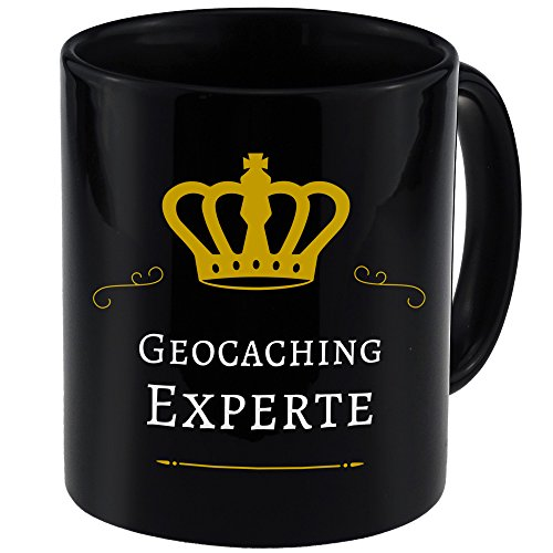 Tasse Geocaching Experte schwarz