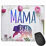 wodealmug Cute Large Mouse Pad with Design Mothers Day Gift Mama Bear for Computer
