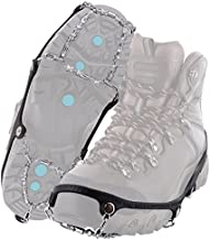Yaktrax Diamond Grip All-Surface Traction Cleats for Walking on Ice and Snow (1 Pair), Large , Black