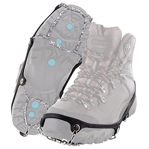 Yaktrax Diamond Grip All-Surface Traction Cleats for Walking on Ice and Snow (1 Pair), Medium