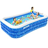 """Inflatable Swimming Pool,118"""" X 72"""" X 22"""" Full-Size FamilyBlow UpKiddie Pool for Kids, Adults,Toddlers,Garden, Outdoorwith BackyardSummer Swim Centerfor Ages 3+"""