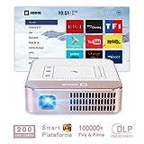 AODIN WOW Mini Portable HD Videoprojecteur 3500 Lumen WiFi Projecteur, DLP LED Home Cinéma Projecteur, écran HDR 300', Compatibles 4K, Diffusez 100000+ TV, Films par Apps