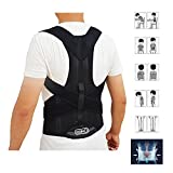 Back Brace Posture Corrector Clavicle and Lower Back Support- Comfortable Back and Shoulder Brace for Men and Women- Improve Posture, Spine Posture, Hunchback, Aches and Pain by ZSZBACE (L)