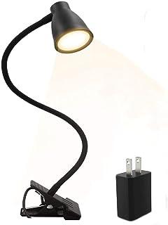 クリップライト led デスクライト 日本語取扱説明書 3段調色(暖色/昼光色/白色) 10段調光 USB式 5W 500ルーメン 360°回転 長寿命50000時間 省エネ 明るい 目に優しい 卓上ライト 読書灯 デスクスタンド テーブルライト ナイトライト (5W)