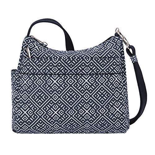 Travelon Damen Umhängetasche mit Diebstahlschutz, Boho-Stil, quadratisch, Mosaikfliese (mehrfarbig) - 43220-35A