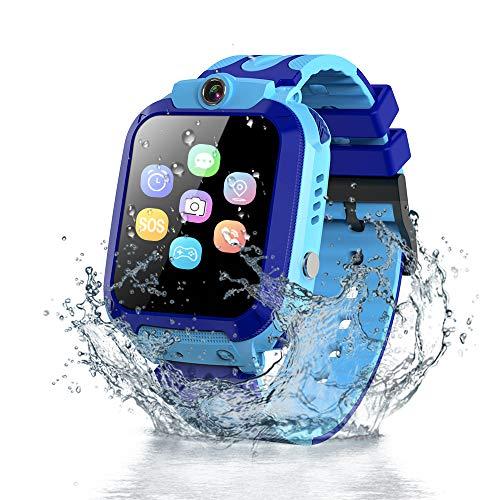 Vannico Smartwatch Niños, Reloj Inteligente Niño IP68, LBS, Llamada Bidireccional, SOS Modo de Clase, Cámara, Juegos, Regalo para Niño Niña de 3-12 años (Azul)