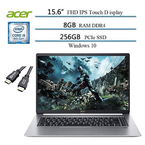 "2020 Acer Swift 5 15.6"" FHD Ultra-Thin Lightweight Touch Business Laptop, Intel Core i5-8265U(Beat i7-7500u), 8GB DDR4 RAM, 256GB PCIe SSD, Backlight,Win 10 w/Ghost Manta 4K HDMI Cable"