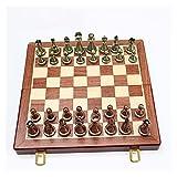 30cmの金属チェスセットラグジュアリーのプロテクトラブル折りたたみ木製チェスボードゲームテクスチャクラシックハンドメイド