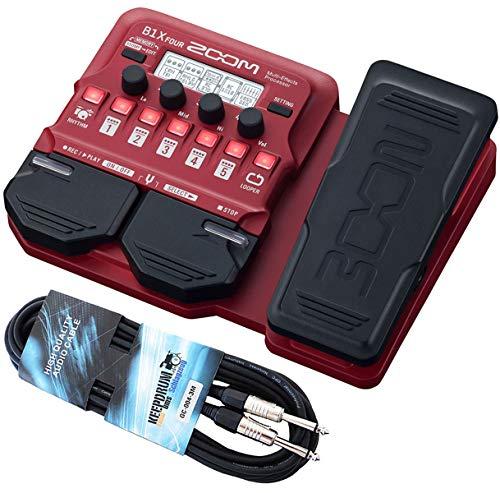 Zoom B1X FOUR Multi-Effektgerät für Bass + keepdrum Klinkenkabel 3m