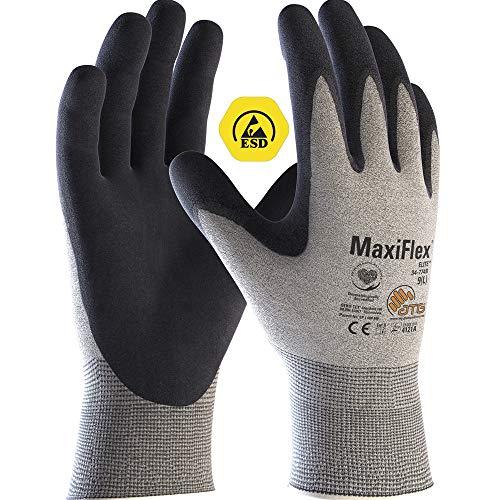 ATG 34-774B MaxiFlex® EliteTM ESD Handschuh, Grau, Größe 9