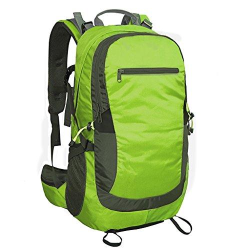 AMOS Al aire libre alpinismo bolsa de viaje bolsa de viaje de viaje bolsa de mochila hombro hombres y mujeres 40L 50L ( Color : Verde oscuro , Tamaño : 50L )